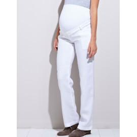 Pantalon évolutif de grossesse Noir pur lin