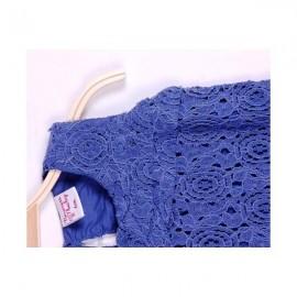 Robe chic en dentelle pur coton