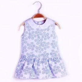 Elegante robe sans manches doublée coton