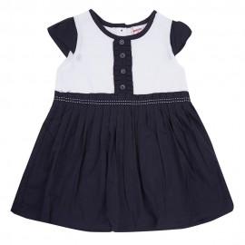 Elegante robe bicouleur doublée coton