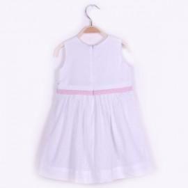 Elegante robe en popeline doublée coton