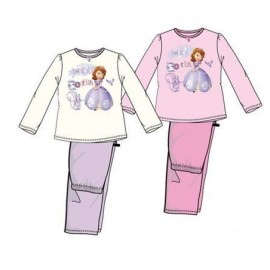 Pyjama 2 pièces velours Princesse Sofia