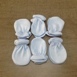 6 paires de gants Bleus pur coton anti griffures