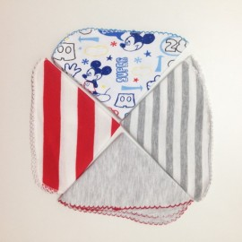 4 mini serviettes pures coton