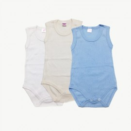 Lot de 3 bodies débardeur coton