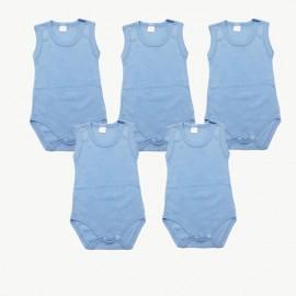 Lot de 5 bodies débardeur Bleus coton