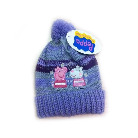 5d8edd657aa Bonnet tricoté Peppa Pig - ZaaZ