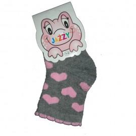Chaussettes à petits coeurs bébé fille Jazzy