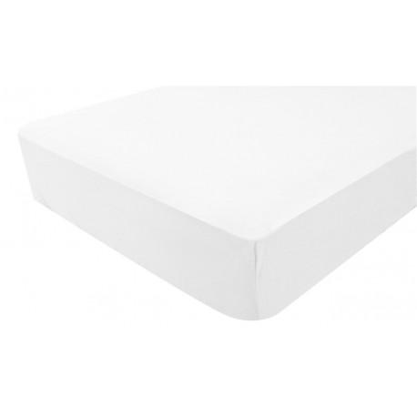 Drap housse Jersey 40 x 80 cm Blanc