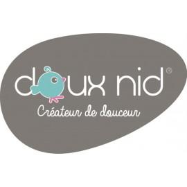 Parure Housse de Couette + Taie 100x140 cm Blanc / Lilas Doux nid