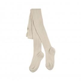 Collants épais en coton organique Crème