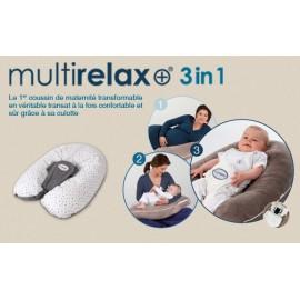 Coussin Multirelax 3en1 coton étoiles bleu marine