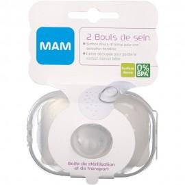 Mam - Bout de Sein, Lot de 2 en Boîte de Stérilisation