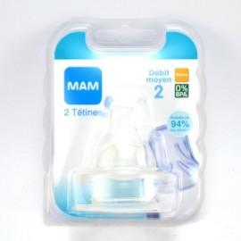 Mam - 1 Tétine débit 2 moyen (2m+)