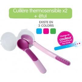 Mam - 2 Cuillères thermosensibles avec étui - Choix couleurs