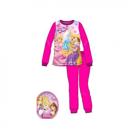 Pyjama 2 pièces polaire Princesses Fushia