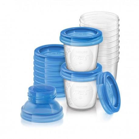 Kit pots de conservation du lait maternel 180ml Avent