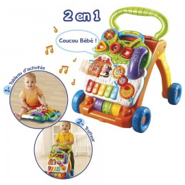 Super Trotteur parlant 2 en 1 orange Vtech (9-36M)