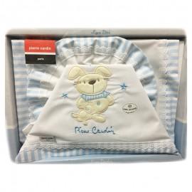Set 3 pièces Pierre Cardin nounours Beige : Drap, housse et taie d'oreiller pour lit bébé