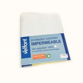 Drap housse imperméable 60 x 120 cm Blanc
