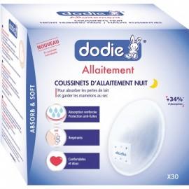 Dodie Coussinets d'Allaitement Nuit Pochettes individuelles x30
