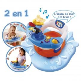 Siège de bain interactif 2en1 Vtech (6-18 mois)