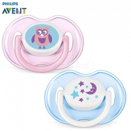 AVENT 2 Sucettes orthodontiques animaux, 0-6mois, Rose