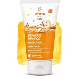 WELEDA Crème de Douche 2 en 1 Enfants - Orange fruitée 150ml