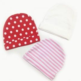 Lot de 3 bonnets 100% coton