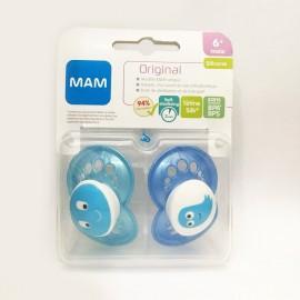 Mam - 2 sucettes Original Bleu (+6mois)