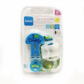 Mam - Attache sucette - Love Daddy Bleu