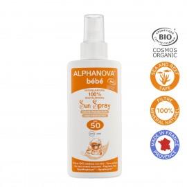 Alphanova crème solaire bébé bio SPF 50, Spray