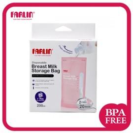 Farlin - 22 Sachets de conservation du lait maternel - 200ml