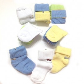 6 ou 12 chaussettes naissance Garçon pur coton
