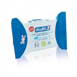 Dodie 20 Lingettes nettoyantes 3en1 - format poche