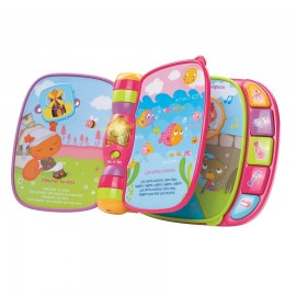 Vtech Do, Ré, Mi super livre enchanté rose (6-36M)