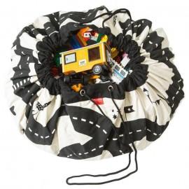 Play&Go Tapis de Jeu et sac à jouets Circuit Eclair