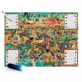 Puzzle explore la savane 5-10 ans - Headu