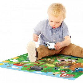 Puzzle Montessori Happy la ferme 2-4 ans - Headu