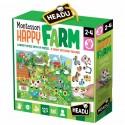 Puzzle Géant Montessori Happy la ferme 2-4 ans - Headu
