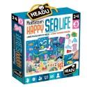 Puzzle Géant Montessori Happy la mer 2-4 ans - Headu