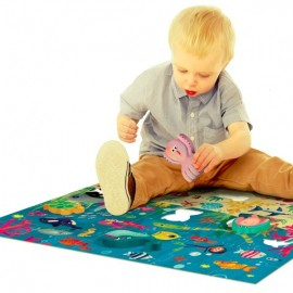 Puzzle Géant Montessori Happy la mer 2-4 ans - Headu
