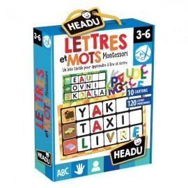 Lettres et Mots Montessori 3-6 ans - Headu