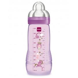 Mam - Biberon 2ème âge 330 ml - Violet- Easy Active