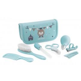 Kit trousse de toilette Bébé bleu