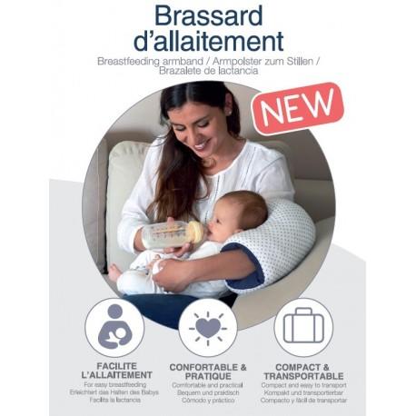 Candide - Brassard d'allaitement Jersey étoiles / bleu marine