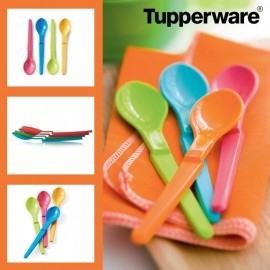 Tupperware - 4 Cuillères d'apprentissage Forme Z