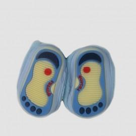 Pantoufles chaussons tout doux bleus 0-12 Mois