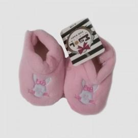 Pantoufles chaussons tout doux roses 0-12 Mois