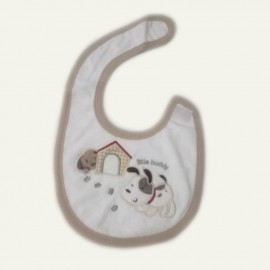 Bavoir bébé pur coton Girafe crème